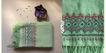 अगहन ⁂ Khandhiro Embroidery ⁂ Merino Wool Stole ⁂ 3