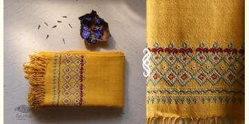 अगहन ⁂ Khandhiro Embroidery ⁂ Merino Wool Stole ⁂ 4
