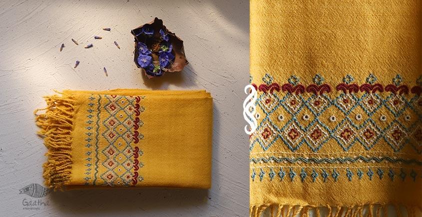 Aghan   अगहन ⁂ Khandhiro Embroidery ⁂ Merino Wool Stole ⁂ 4