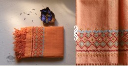 Aghan | अगहन ⁂ Khandhiro Embroidery ⁂ Merino Wool Stole ⁂ 5