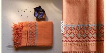 अगहन  ⁂ Khandhiro Embroidery ⁂ Merino Wool Stole ⁂ 5
