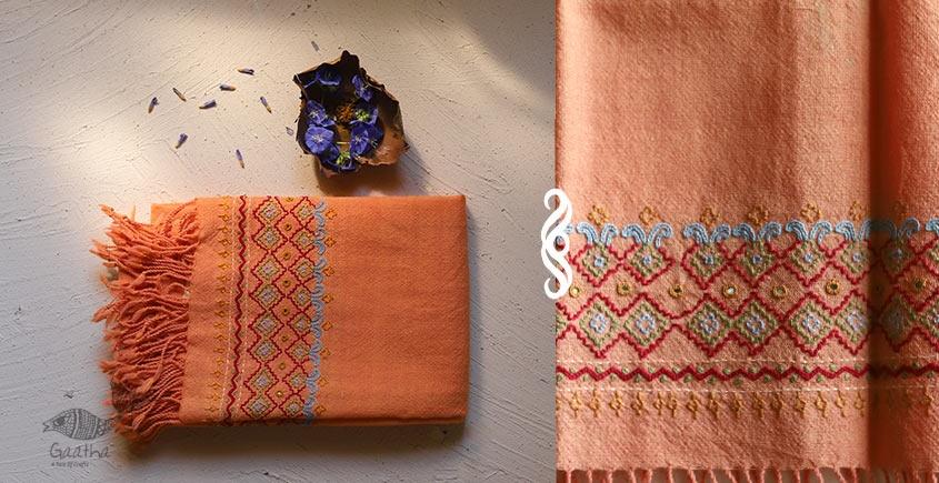 Aghan   अगहन ⁂ Khandhiro Embroidery ⁂ Merino Wool Stole ⁂ 5
