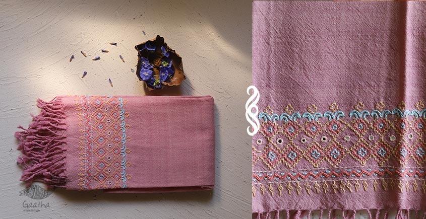 Aghan | अगहन ⁂ Khandhiro Embroidery ⁂ Merino Wool Stole ⁂ 6