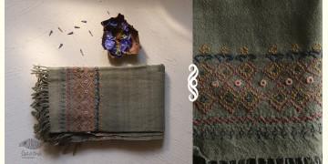 अगहन ⁂ Khandhiro Embroidery ⁂ Merino Wool Stole ⁂ 7