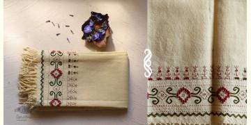 अगहन ⁂ Kharek Embroidery ⁂ Merino Wool Stole ⁂ 8