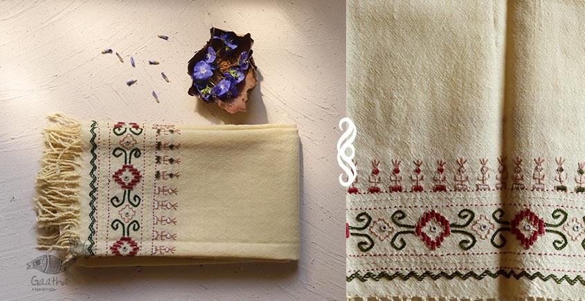 Aghan | अगहन ⁂ Kharek Embroidery ⁂ Merino Wool Stole ⁂ 8