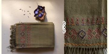 अगहन ⁂ Kharek Embroidery ⁂ Merino Wool Stole ⁂ 9
