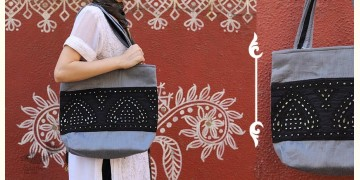 Rural trails ~ Silk Embroidered Hand Bag ~ A
