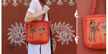 Rural trails ~ Cotton Embroidered Hand Bag ~ C