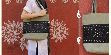 Rural trails ~ Silk Embroidered Hand Bag ~ B