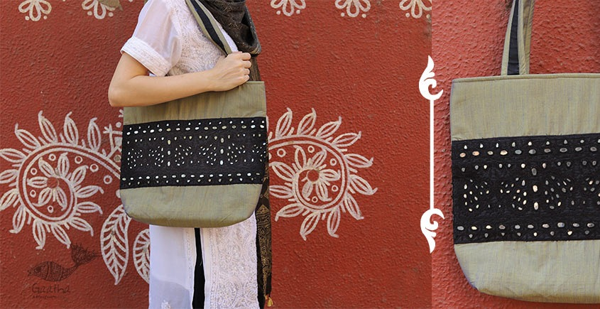 Rural trails ~ Silk Embroidered Hand Bag ~ B