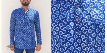 अमोल ● Handwoven | Dabu Printed ●  Cotton short kurta ● J
