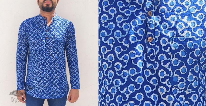Natural dye Handloom Pure Cotton short kurta