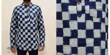 अमोल ● Handwoven   Dabu Printed ●  Cotton short kurta ● K