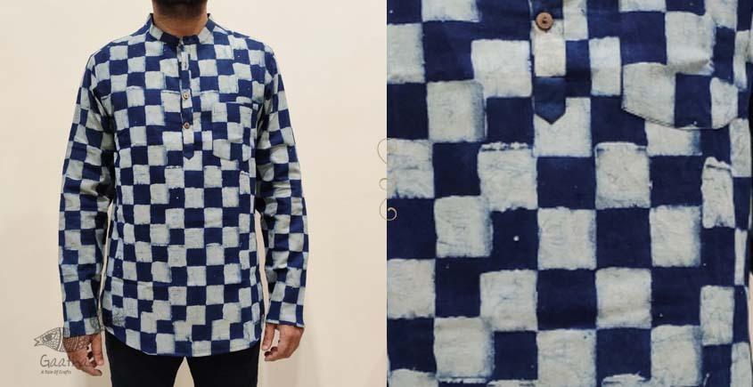 Natural dye Handloom Pure Cotton short kurta