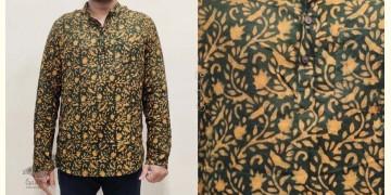 अमोल ● Handwoven   Dabu Printed ●  Cotton short kurta ● L