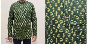अमोल ● Handwoven   Dabu Printed ●  Cotton short kurta ● M