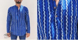अमोल ● Handwoven | Dabu Printed ●  Cotton short kurta ● C