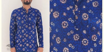 अमोल ● Handwoven | Dabu Printed ●  Cotton short kurta ● F