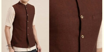 Ekansh ✫ Handwoven Cotton Sadri / Jacket ✫ 1