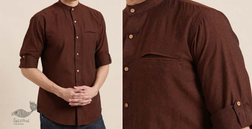 shop online casual Handwoven cotton men shirt