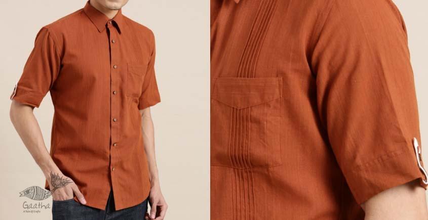 shop online plain Handwoven cotton men shirt