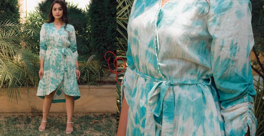 tie & dyed Handwoven Cotton Dress - Handwoven Cotton