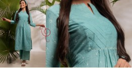 Zen ❁ Tie & Dye ❁ Handwoven Cotton Kurti with Palazzo ❁ 2