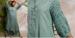 Zen ❁ Tie & Dye ❁ Handwoven Cotton Kurti with Palazzo ❁ 3