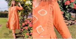 Zen ❁ Tie & Dye ❁ Handwoven Cotton Kurti with Pant ❁ 14