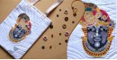 बहार ❣ Handwoven Cotton ❣ Pichwai Painted Handbag ❣ Shreenathji ~ 11