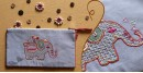 बहार ❣ Handwoven Cotton ❣ Embroidered Pouch ❣ 9