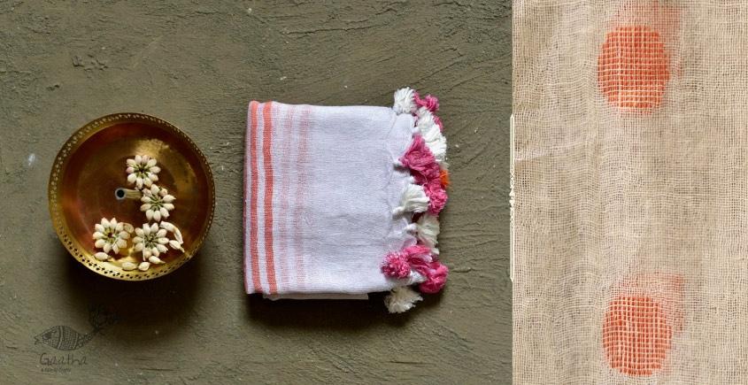कुमुद ❂ Handwoven Linen Dupatta ~ B