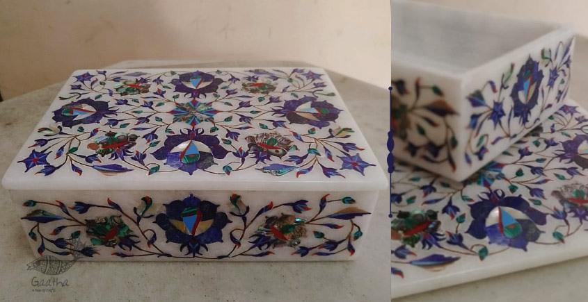 तराश ☘ Pacchikari (Inlay) Marble Box ☘ 23