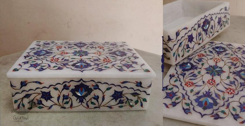 तराश ☘ Pacchikari (Inlay) Marble Box ☘ 24