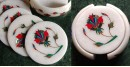 तराश ☘ Pacchikari (Inlay) Marble Coaster Set ☘ 40