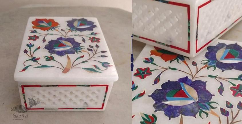तराश ☘ Pacchikari (Inlay) Marble Jali Box ☘ 27