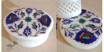 तराश ☘ Pacchikari (Inlay) Marble Jali Box ☘ 37