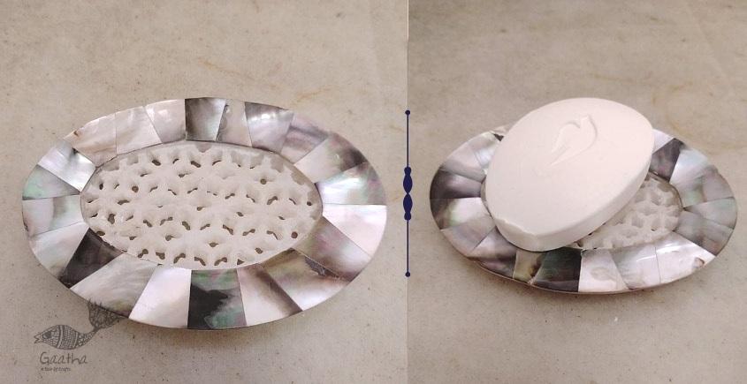 तराश ☘ Pacchikari (Inlay) Marble Jali Soap Case ☘ 28