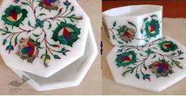 तराश ☘ Pacchikari (Inlay) Marble Octagon Box ☘ 39