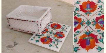 तराश ☘ Pacchikari (Inlay) Marbel Jali Box ☘ 4