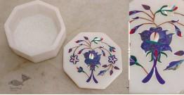 तराश ☘ Pacchikari (Inlay) Marbel Octagon Box ☘ 7