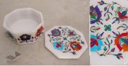 तराश ☘ Pacchikari (Inlay) Marbel Octagon Box ☘ 8