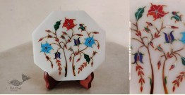 तराश ☘ Pacchikari (Inlay) Marbel Octagon Plate ☘ 10