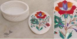 तराश ☘ Pacchikari (Inlay) Marbel Oval Jali Box ☘ 12