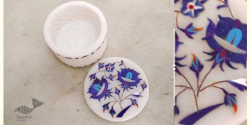 तराश ☘ Pacchikari (Inlay) Marbel Round Jali Box ☘ 14
