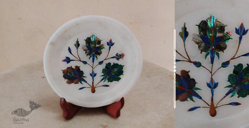 तराश ☘ Pacchikari (Inlay) Marbel Round Plate ☘ 15