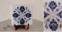 तराश ☘ Pacchikari (Inlay) Marbel Square Plate ☘ 18