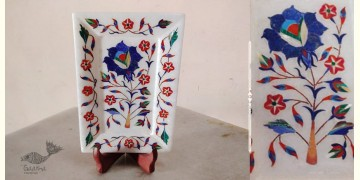 तराश ☘ Pacchikari (Inlay) Marbel Tray ☘ 5