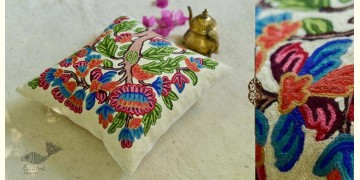 "गुल ✩ Kashmiri Ari Embroidery Cushion Cover (16"" x 16"") ✩ 19"